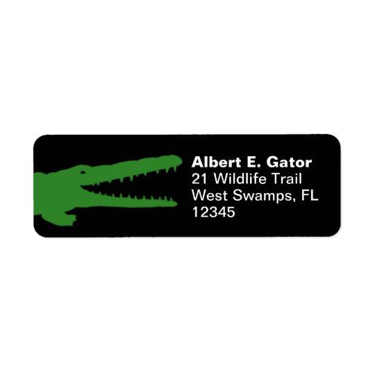 Alligator Return Address Return Address Label