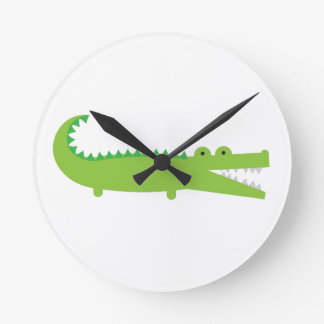Alligator Round Clock