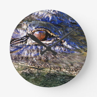 Alligator Round Clock