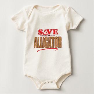 Alligator Save Baby Bodysuit