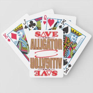 Alligator Save Bicycle Playing Cards