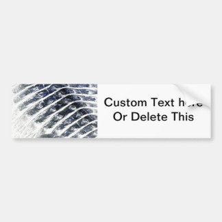 alligator scales neat abstract invert pattern bumper sticker