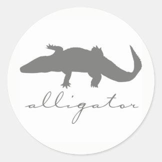 Alligator Silhouette Stickers