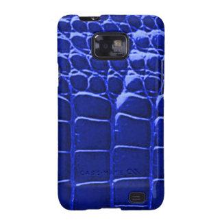 Alligator Skin Blue Samsung Galaxy S Galaxy SII Cases