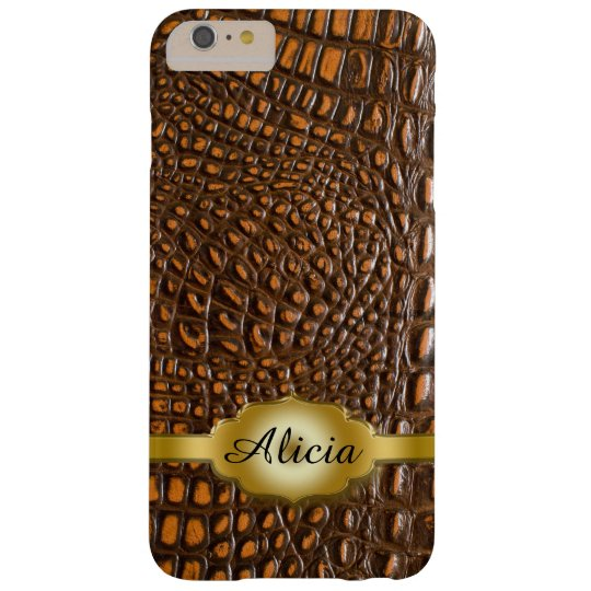 Alligator Skin iPhone 6 Plus Monogram Case
