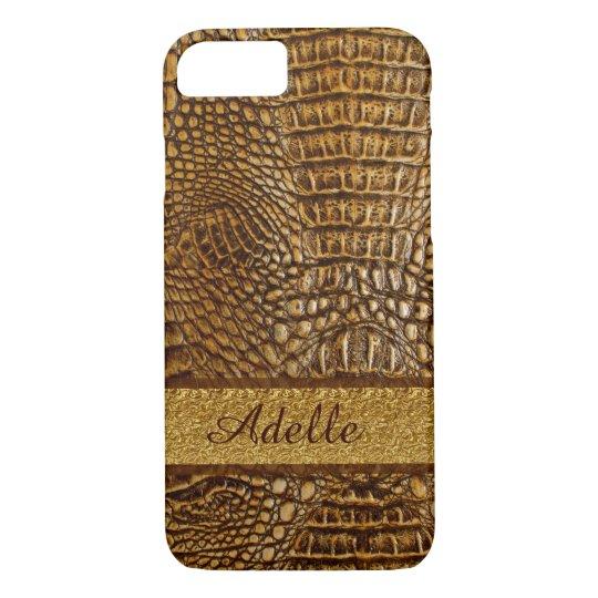 Alligator Skin iPhone 7 Case Custom Mobogram