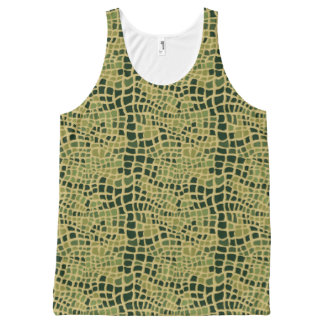 Alligator skin pattern All-Over print tank top