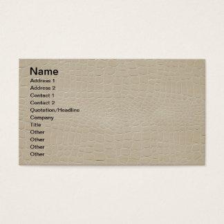 Alligator Skin Print Beige Business Card