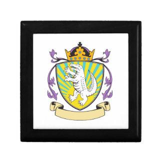 Alligator Standing Coat of Arms Retro Small Square Gift Box
