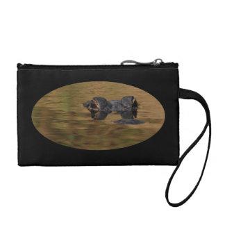 Alligator surfacing change purse