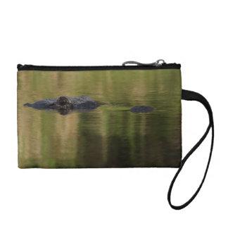 Alligator surfacing coin purse