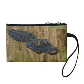 Alligator Swimming Change Purse