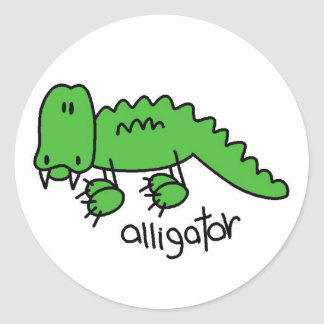 Alligator Tshirts and Gifts Classic Round Sticker