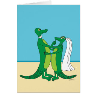 Alligator Wedding Nuptials Card