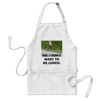 Alligators-2 082, NO. I DON'T WANT TO BE LUNCH. Standard Apron