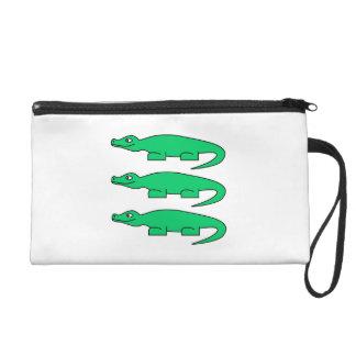 Alligators. Wristlet Clutches