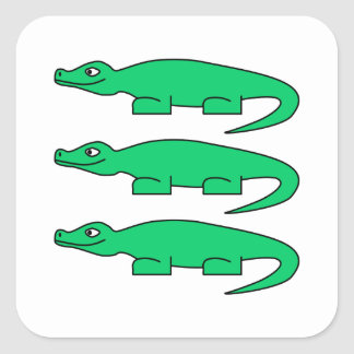 Alligators. Square Sticker