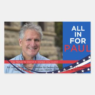allinforpaul.com campaign poster sticker