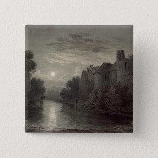 Allington Castle, near Maidstone, Kent; Moonlight 15 Cm Square Badge