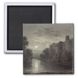 Allington Castle, near Maidstone, Kent; Moonlight Fridge Magnet