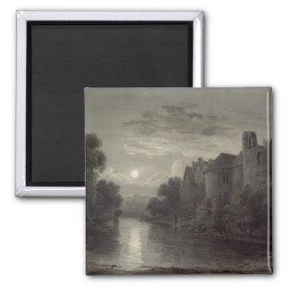 Allington Castle, near Maidstone, Kent; Moonlight Square Magnet
