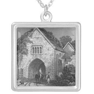 Allington Castle Square Pendant Necklace
