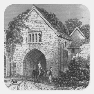 Allington Castle Square Sticker