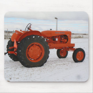 Allis Chalmers Tractor Snow Scene Mouspad Mouse Mat
