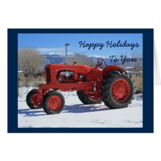 Allis Chalmers WD45 1955 Holiday Greeting Card