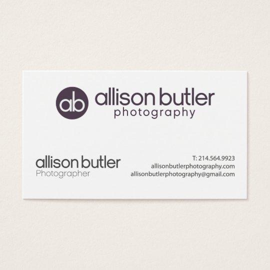 Allison Butler Photography Business Card