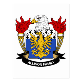 Allison Family Crest Postcard