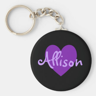 Allison in Purple Key Ring