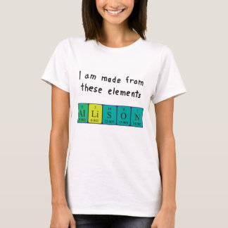 Allison periodic table name shirt