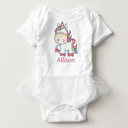 Allison's Personalised Unicorn Gifts Baby Bodysuit