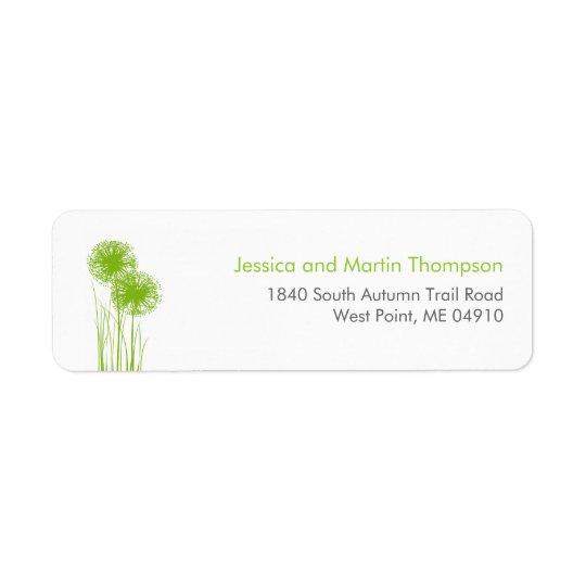 Allium in Grass Personalised Return Address Labels