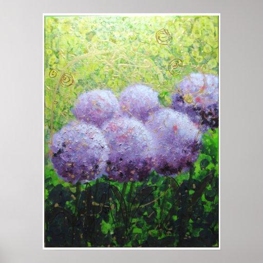 Alliums at Laycock - Bee Lilli  Semi Gloss 18x24 Print