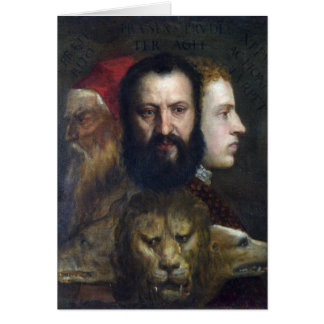 Alllegory of Prudence - Titian (Tiziano) Greeting Card