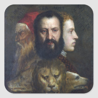 Alllegory of Prudence - Titian (Tiziano) Stickers