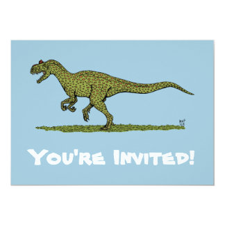 Allosaurus Invitations