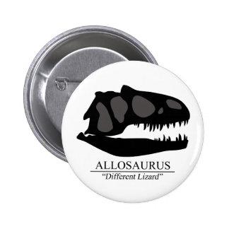 Allosaurus Skull 6 Cm Round Badge