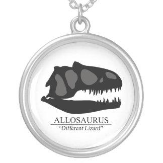 Allosaurus Skull Round Pendant Necklace