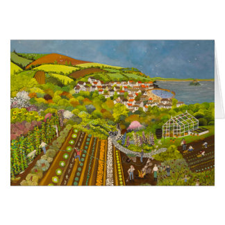 Allotment above Mousehole Greeting Card