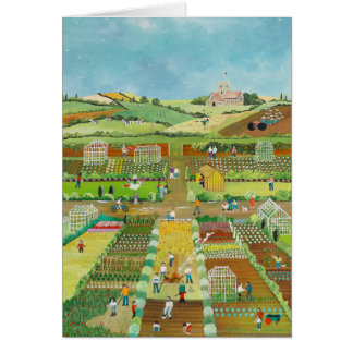 Allotments Greeting Card