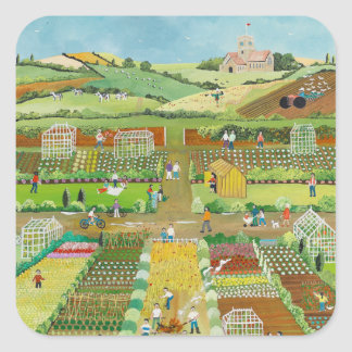 Allotments Square Sticker