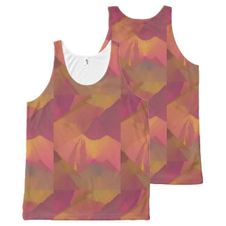 Allover Design Tank Top Purple Gold Sunset