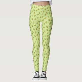 allover leaf print. leggings