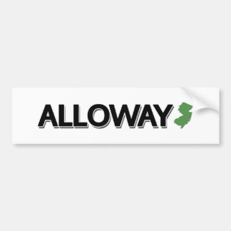 Alloway New Jersey Bumper Stickers