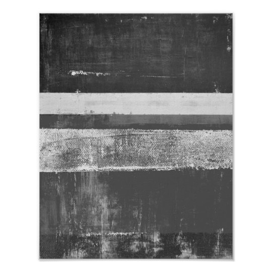 'Alloy' Grey Abstract Art Poster