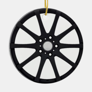 """Alloy Wheel"" gifts and products Round Ceramic Decoration"