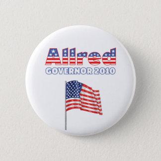 Allred Patriotic American Flag 2010 Elections 6 Cm Round Badge